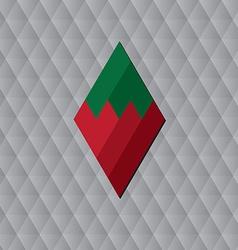 rhombus geometric background vector image vector image