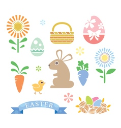 Simple Style Happy Easter Cartoon vector image vector image