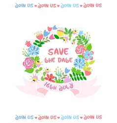 Wedding card Save the date vector image vector image