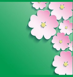 3d flowers abstract floral background vector image vector image