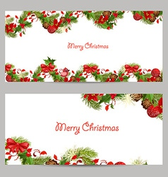 christmas set invitation cards for your design vector image