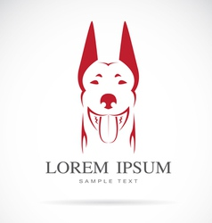 image of an dog doberman vector image vector image