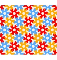 Seamless Geometric Hexagonal Red Blue vector image vector image