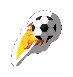 sticker colorful olympic flame with soccer ball vector image vector image