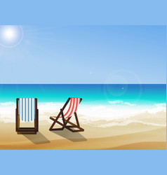 summer seaside view vector image vector image