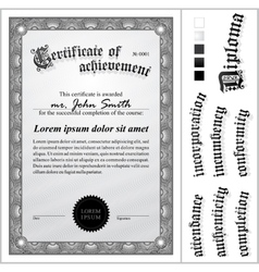 black and white certificate Template Vertical vector image vector image