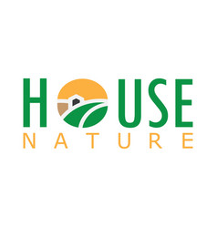 house nature logo vector image