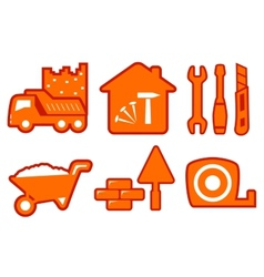 industrial set with construction icons vector image vector image