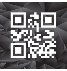 Sample QR Code Ready to Scan with Smart Phone vector image vector image