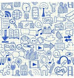 Social media seamless pattern vector image vector image