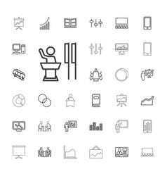 33 presentation icons vector