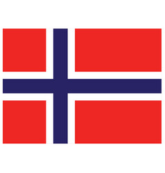 accurate correct norwegian flag of norway vector image