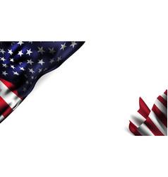 American flag decor 4th july celebration vector