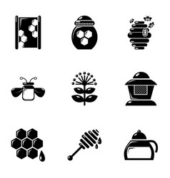 Apiculture equipment icons set simple style vector
