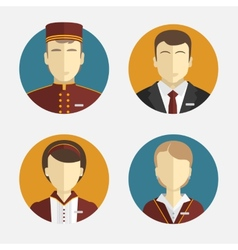 Avatars people The hotel staff Reception vector image
