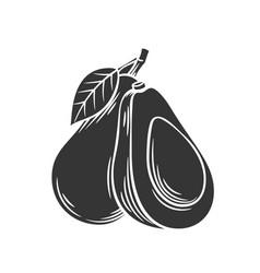 Avocado glyph icon vector