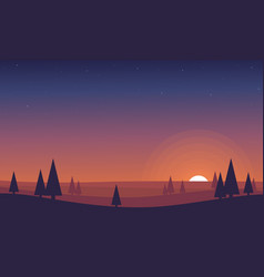Background scenery design for game vector