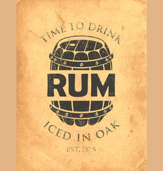 Banner on a theme iced in oak rum vector