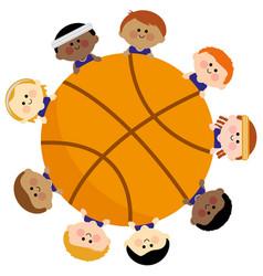 Basketball and children sport team vector