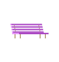 bench closeup isolated poster vector image