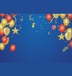 birthday and celebration banner vector image