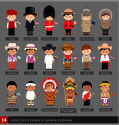 Boys in national costumes vector