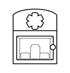 Cabinet first aid medical symbol vector