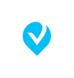 Check logo icon mark vector