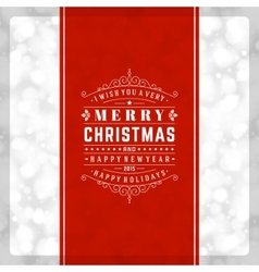 Christmas retro typography and light background vector