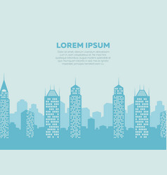 City landscape background - poster with downtown vector