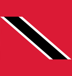 Colored flag of trinidad and tobago vector