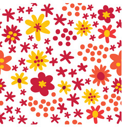colorful autumn flat style orange and red vector image
