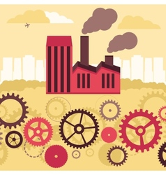 concept - factory building and landscape vector image