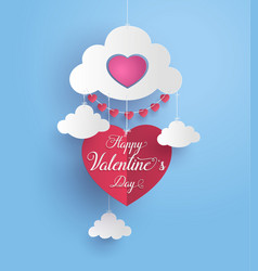 concept of happy valentine day vector image