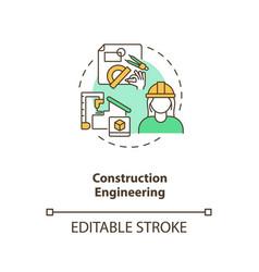 Construction engineering concept icon vector