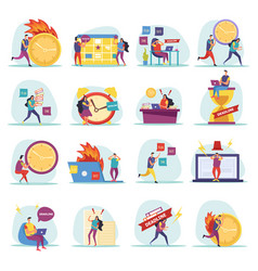 Deadline flat icons vector