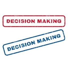 Decision making rubber stamps vector