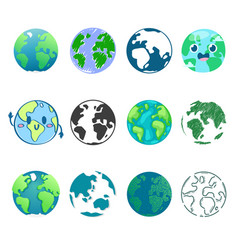 Earth planet global world universe and vector