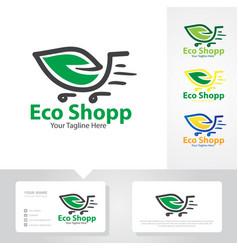 eco shop logo designs vector image