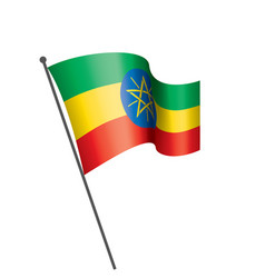 ethiopia flag on a white vector image