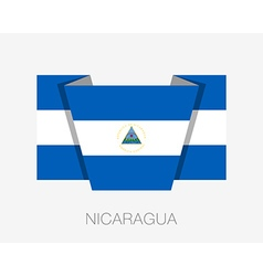 Flag of Nicaragua Flat Wavering Icon vector