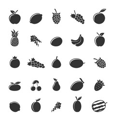 flat fruit set vector image