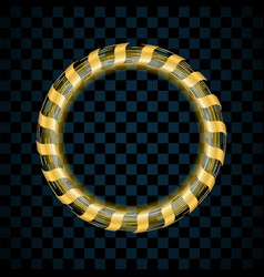 Gold circle isolated on transparent black vector