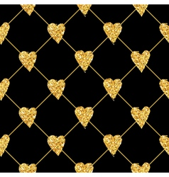 Golden Heart Glitter Background vector