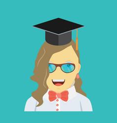 graduating young woman vector image