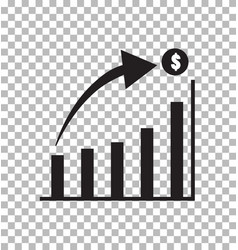 Graph icon in trendy flat style isolated on vector
