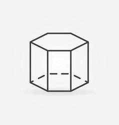 Hexagon 3d icon vector