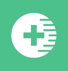 Icon medical cross vector