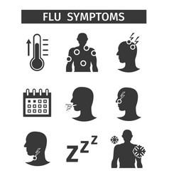 Icons set without description flu symptoms vector