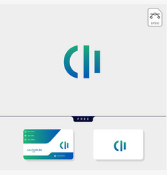 Initial ciic creative logo template and business vector